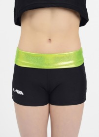 Mini-short BICOLORE-lime-8